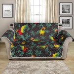 The Beauty Of Parrot And Leaves Themed Pattern Sofa Couch Protector Cover