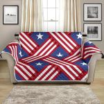 Abstract American Flag Pattern Sofa Couch Protector Cover