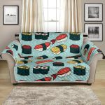 Collection Of Tasty Sushi For Food Lover Pattern Sofa Couch Protector Cover