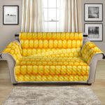Agricultural Corn Cob Themed Pattern Sofa Couch Protector Cover