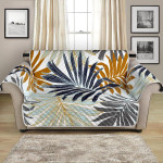 Colorful Tropical Palm Leaves Themed Pattern Sofa Couch Protector Cover