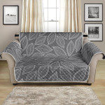 Elm Grey Leaves Simple Classic Style Pattern Sofa Couch Protector Cover