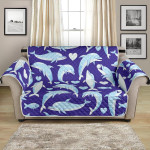 Heart Cute Dolphin Smile Pattern Sofa Couch Protector Cover