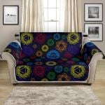 Colorful Chakra Sign Pattern Sofa Couch Protector Cover