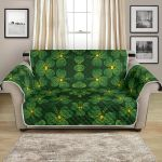 St. Patrick Day Green Shamrock Pattern Sofa Couch Protector Cover