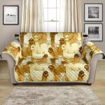 Alpaca In Yellow Watercolor Pattern Sofa Couch Protector Cover