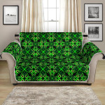 Celtic Green Neon Design Pattern Sofa Couch Protector Cover