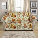 Western Cowboy Stuff Design Pattern Sofa Couch Protector Cover