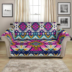 Pastel Color Aztec Geometric Pattern Sofa Couch Protector Cover