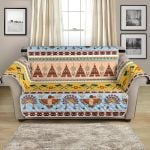 Native American In Pastel Color Pattern Sofa Couch Protector Cover