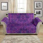 Bohemian Lotus Mandala Style Pattern Sofa Couch Protector Cover