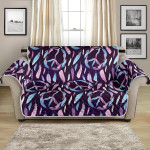 Neon Peace Sign Feather Design Pattern Sofa Couch Protector Cover
