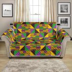 Kente Triangle Design African Pattern Sofa Couch Protector Cover