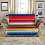 Color Change Serape Stripes Pattern Sofa Couch Protector Cover