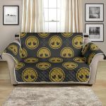 Round Celtic Tree Of Life Design Themed Pattern Sofa Couch Protector Cover