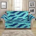 A School Of Whales On Polka Dot Pattern Sofa Couch Protector Cover