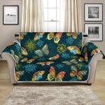 Dreamy Butterfly And Flower For Nature Lover Pattern Sofa Couch Protector Cover