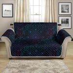 Boho Floral Mandala Dark Themed Pattern Sofa Couch Protector Cover