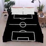 Soccer Black Stripes Soccer Dots Bedding Set Bedroom Decor