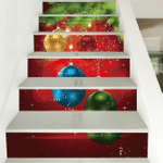 Christmas Colorful Ball Pattern Stair Stickers Stair Decals Home Decor