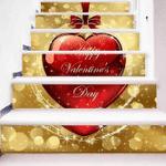 Valentine Day Pattern Stair Stickers Stair Decals Home Decor