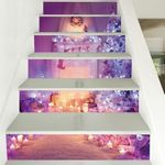 Christmas Night Candle Pattern Stair Stickers Stair Decals Home Decor