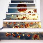 Christmas Gift Pattern Stair Stickers Stair Decals Home Decor