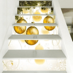 Christmas Tree And Gift Ball Pattern Stair Stickers Stair Decals Home Decor