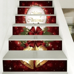 Merry Christmas Pattern Stair Stickers Stair Decals Home Decor