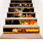 Scared Pumpkin Face Pattern Stair Stickers Stair Decals Home Decor