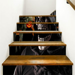 Scared Death And Pumpkin Pattern Stair Stickers Stair Decals Home Decor