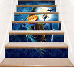 Scared Pumpkin At Night Stair Stickers Stair Decals Home Decor
