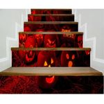 Scared Red Pumpkin Pattern Stair Stickers Stair Decals Home Decor