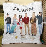 Friends Tv Show Funny Quilt Blanket