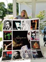 Marilyn Manson Albums Quilt Blanket 01