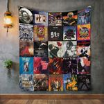 Thin Lizzy Album Covers Quilt Blanket