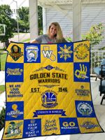 Golden State Warriors Quilt Blanket 01