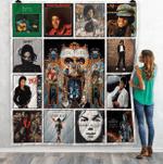 Michael Jackson Albums Quilt Blanket