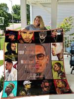 Chris Brown Quilt Blanket 01