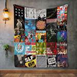Stiff Little Fingers Album Covers Quilt Blanket