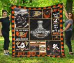 Anaheim Ducks Hockey Quilt Blanket