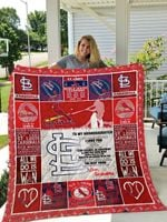 St. Louis Cardinals – To My Granddaughter – Love Grandmom Quilt Blanket