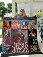 Janis Joplin Albums Quilt Blanket