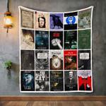 Edgar Allan Poe Books Quilt Blanket