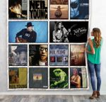 Neil Young Compilations Albums Quilt Blanket 02