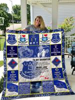 Everton F.C – To My Daughter – Love Dad Quilt Blanket