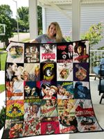 Alfred Hitchcock Best Movies Ever Poster Quilt Blanket
