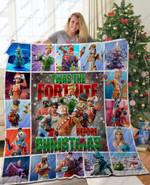 Fortnite Christmas Quilt Blanket