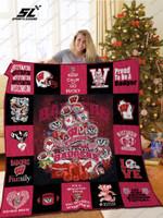 Wisconsin Badgers Christmas Tree Quilt Blanket