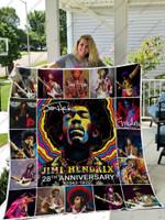 H – Jimi Hendrix Quilt Blanket